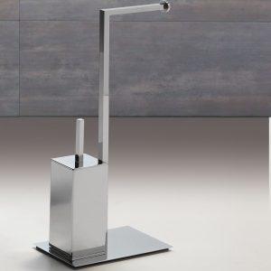 Mondrian WC-Ständer und Toilettenpapierhalter 8364Q