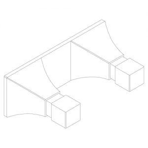 Astoria-5908 Doppelter Handtuchhaken