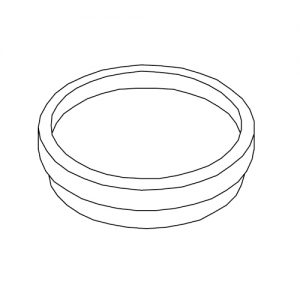 Maxxi 6821 Seifenschale für Ring oder frei stehend
