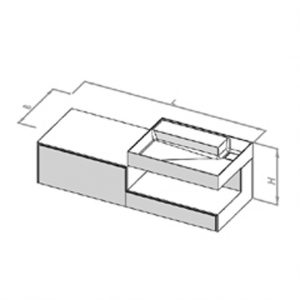 Waschtisch SCA2-1300R